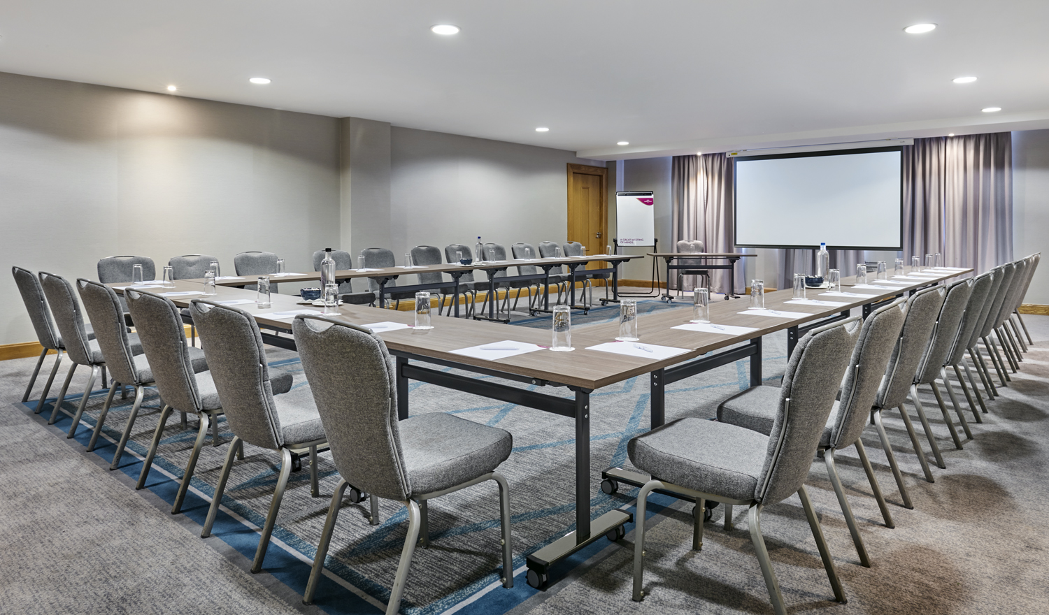 The hemlock meeting room in the Great Oak conference centre Belfast
