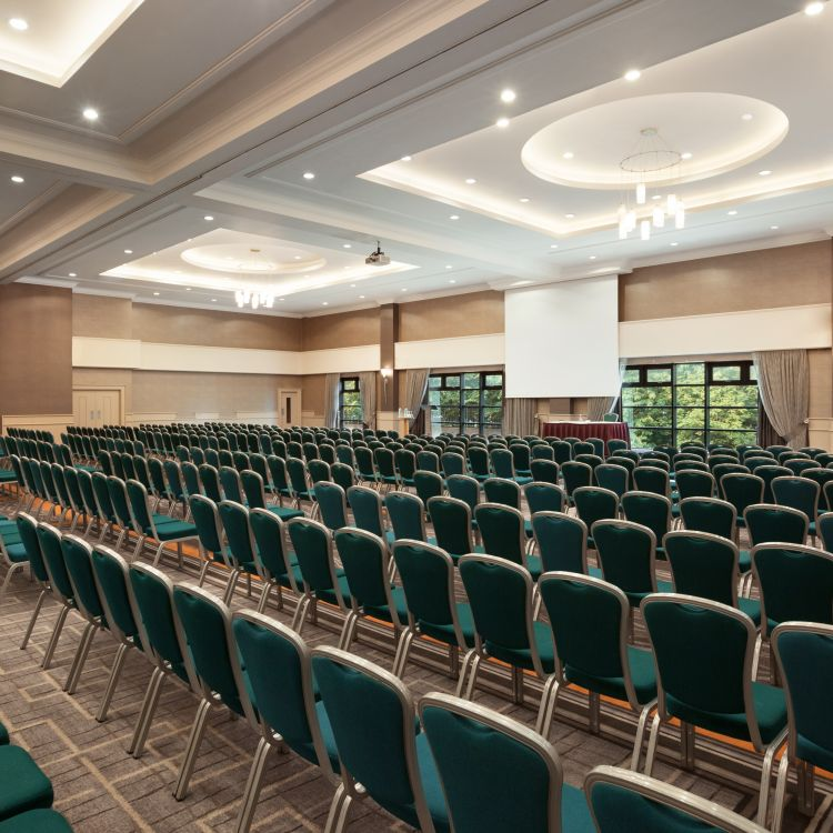 The Grand Ballroom conference theatre setup