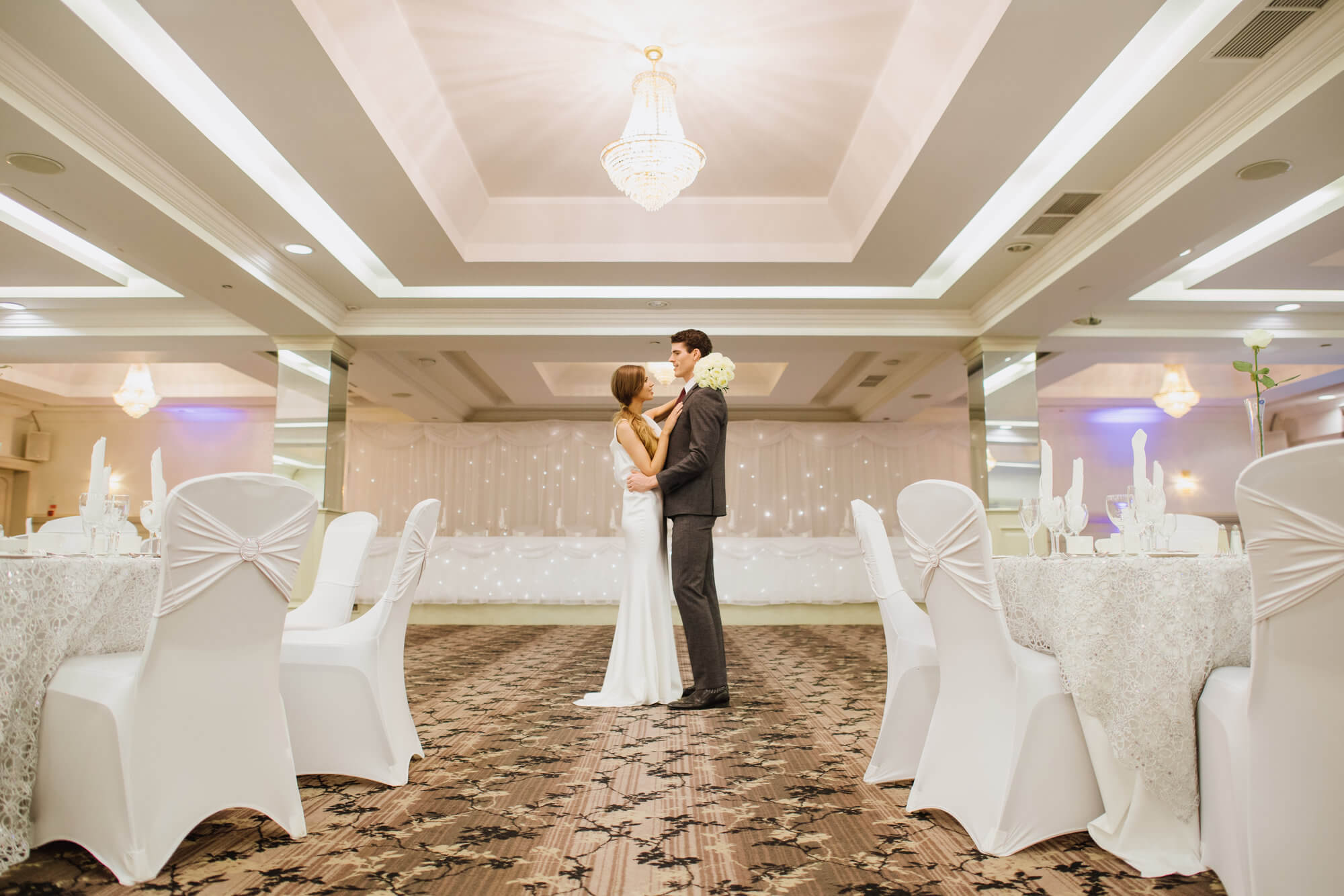 Newly-wed couple in the gorgeous Malone Suite